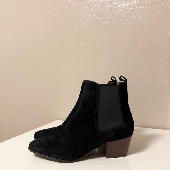 75fa8e54b Sam Edelman Reesa Black Suede Chelsea Ankle Boots.  M 5a6fe6af739d4857e1516d25